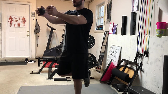 Single Leg Dumbbell Core Press