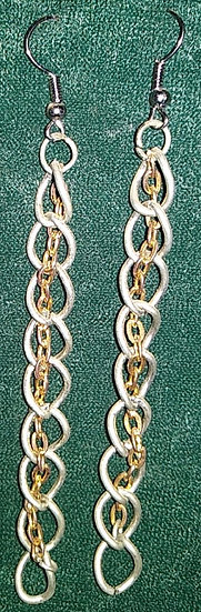 Gold & Silver Chain Earrings