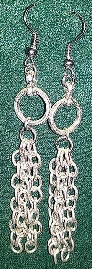 Silver Chains & Hoops Earrings