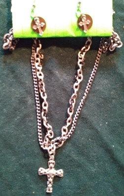 Triple Chain Cross w/Copper