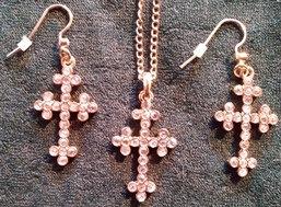 Rhinestone Cross Set