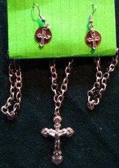 Double Chain Cross Set w/Copper