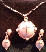 Mother Of Pearl Cross Set