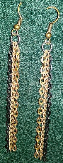Triple Chain Earrings