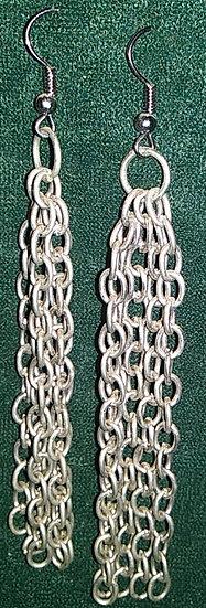 Loads of Silver Chain Earrings