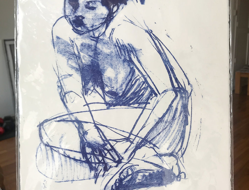 Blue Nude lithograph