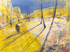 Spring on Yellow and Round Earth  SOLD
