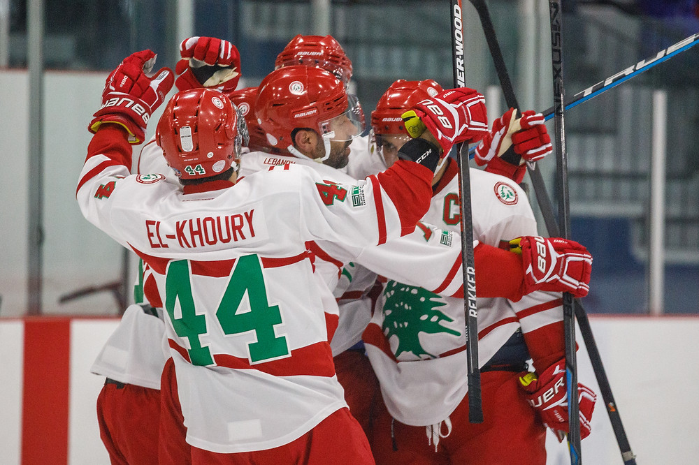 Team Lebanon celebration after a goal