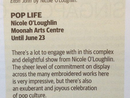 Exhibition review in the TasWeekend magazine