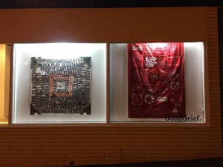 COVID Quilts @ Good Grief Window