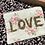 Thumbnail: Pochette en coton Blessed Home.