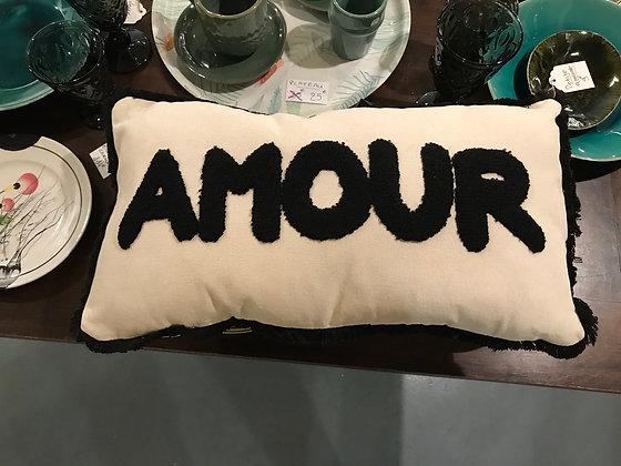 Coussin Love en coton.