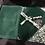 Thumbnail: Pochette en velours verte.