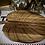 Thumbnail: Plateau de service Monstera avec couteau, acacia / acier inoxydable