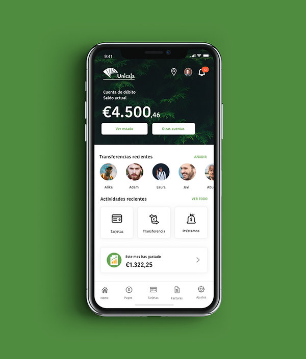 pantalla-home-aplicación-movil-unicaja-banco