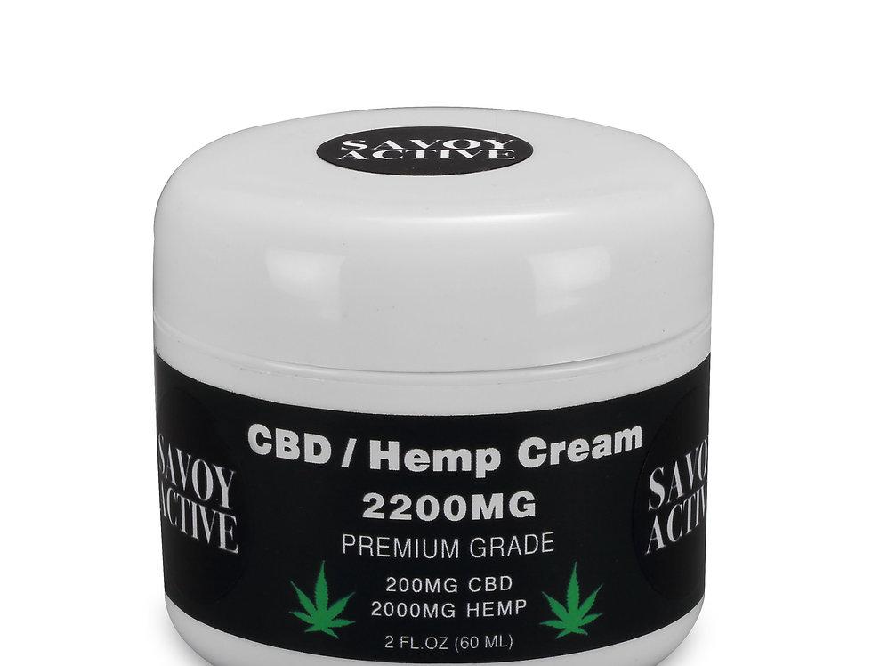 CBD / Hemp Seed Oil Cream-100% Natural-200MG CBD-2000MG Hemp - 2 FL.OZ (60 ML)