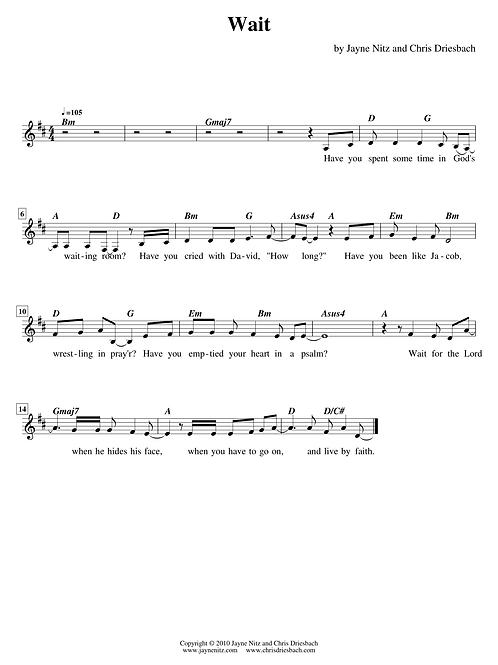 Wait (guitar lead sheet)