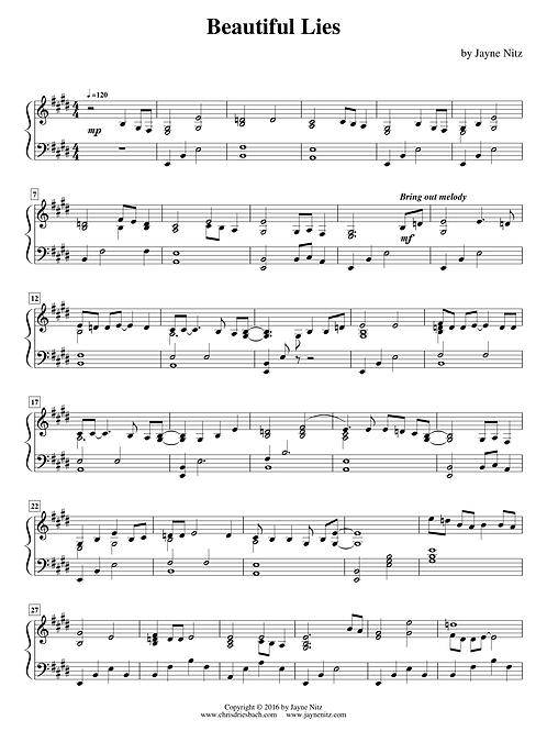 Beautiful Lies (piano solo)
