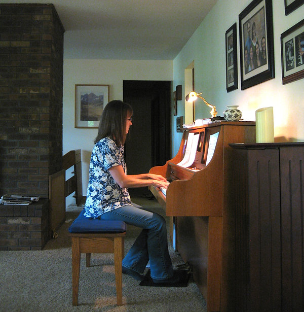 Jayne at the piano