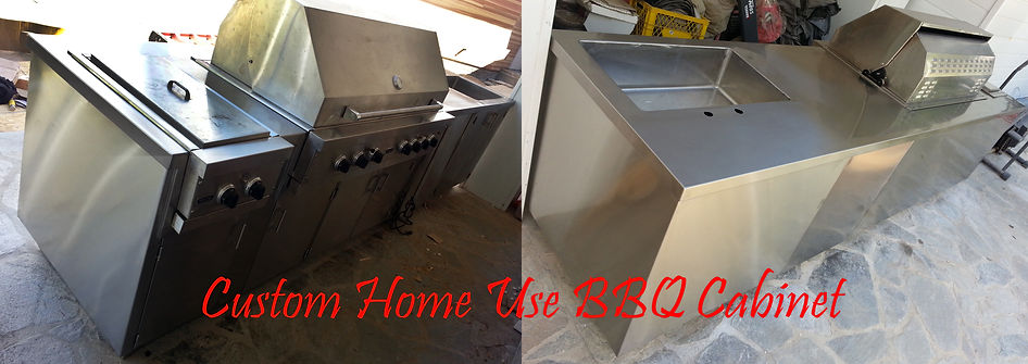 Custom Residential Home Use BBQ Cabinet Sink Grill Gas Range Unit