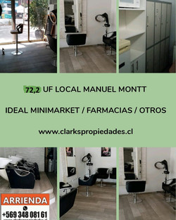 Arriendo Local Comercial Manuel Montt