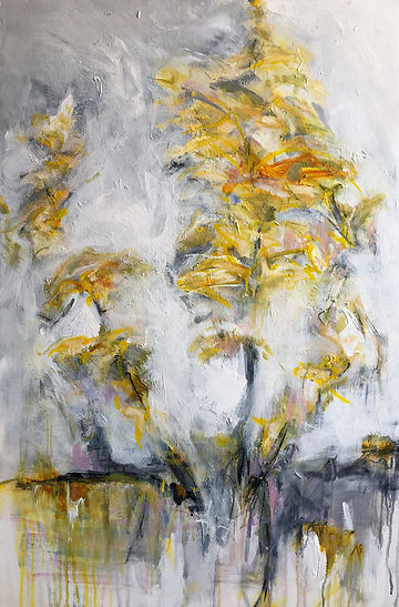 Branch Of Spring_36x24_mixed media on ca