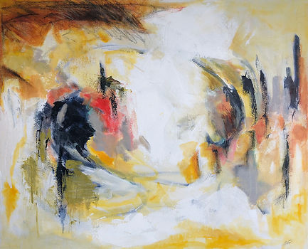 Yellow Eddy_24x30_mixed media on canvas_