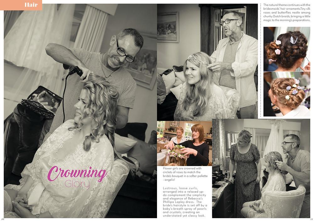 Promise Wedding Magazine: Bridal hair by John Chapham