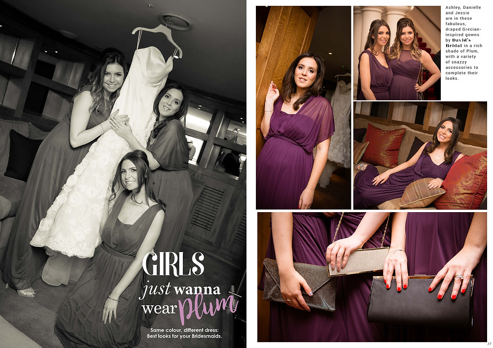 Promise Wedding Magazine: Talia's Bridesmaids wow in gowns by David's Bridal