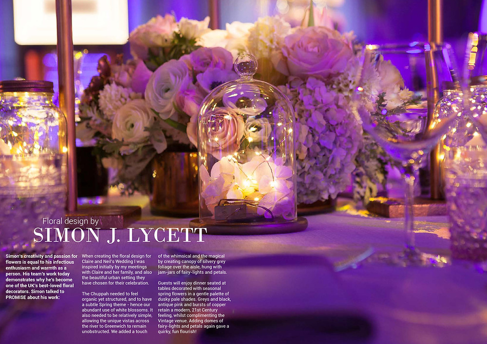 Promise Magazine: Floral design by Simon J. Lycett