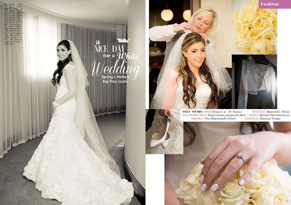 Promise Wedding Magazine: Classic Glamour in custom Enzoani