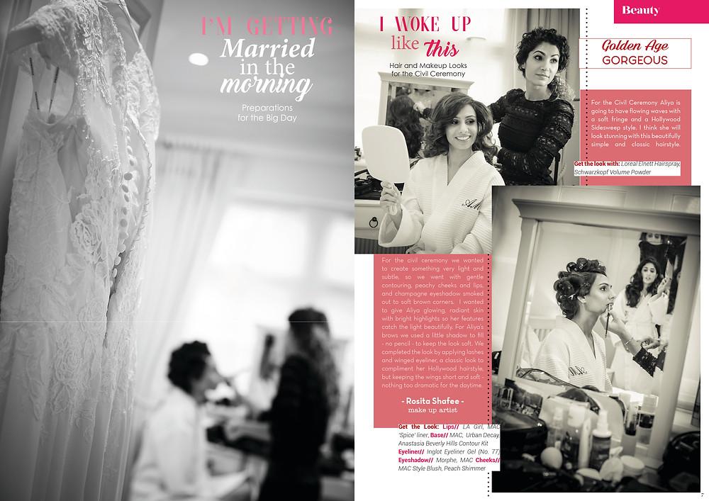 Promise Wedding Magazine: Bridal Make Up by Rosita Shafiee