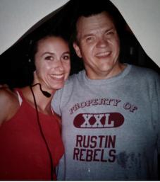 Meatloaf and I on set (I was 19!!)