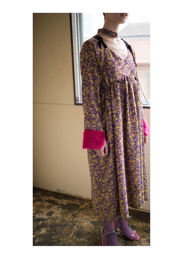flower chiffon cut dress