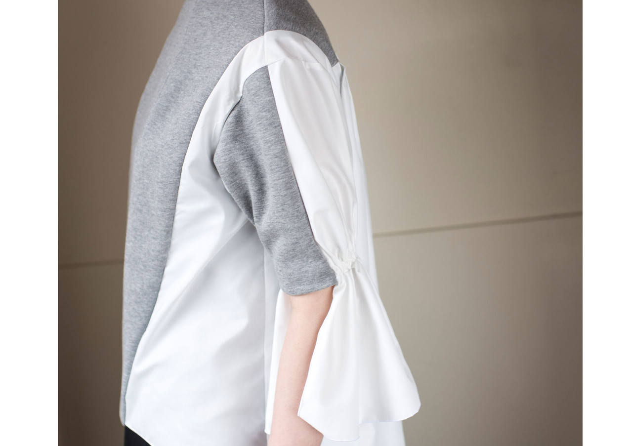 high-necked sweat tops