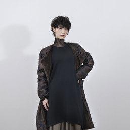 cut jacquard coat