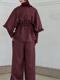 velvet cutsew/blouse/pants