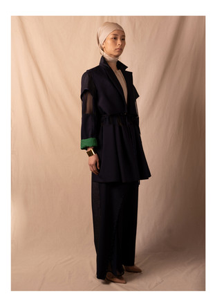 tailored collar jacket / pants