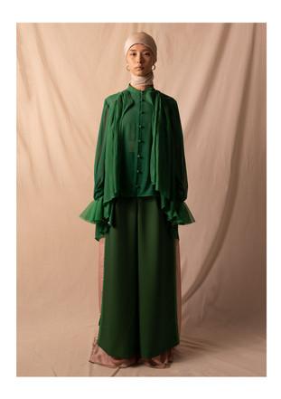 cupro blouse / dress pants