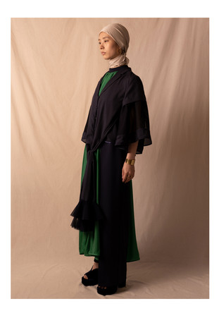 tailored collar blouse / all in one