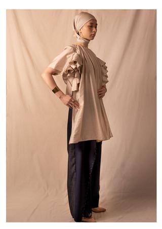 ruffle blouse / pants