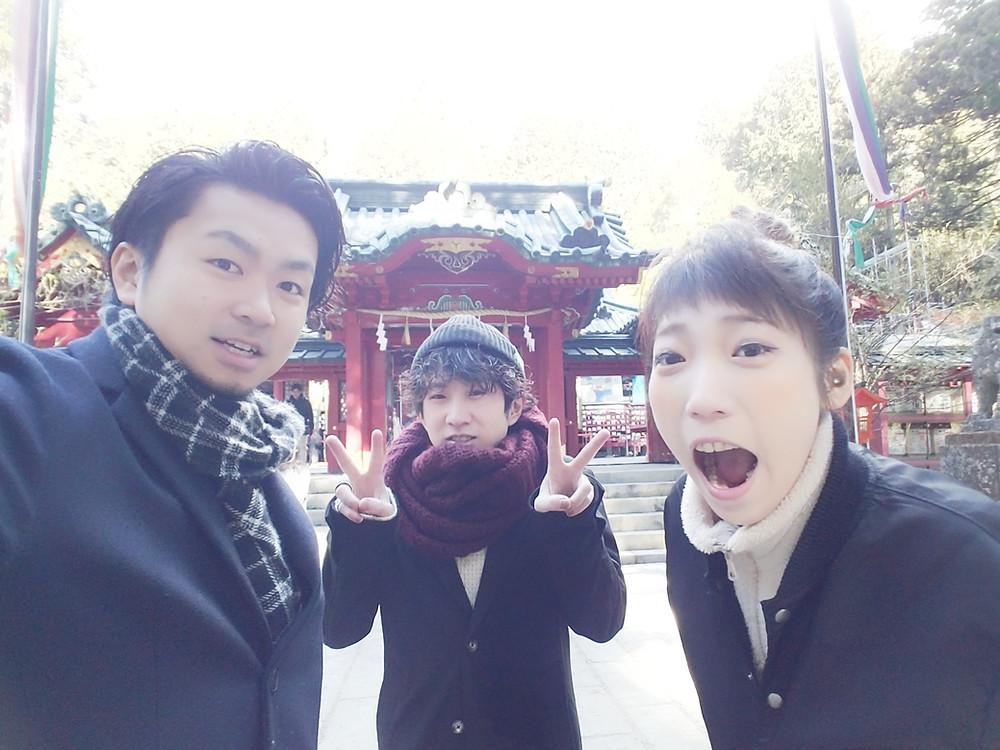 パワースポットの箱根神社でみんなの幸せを祈願
