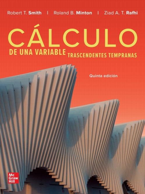 Cálculo de una variable. Trascendentes Tempranas.