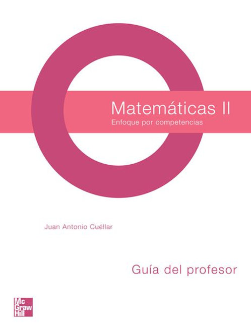 Matemáticas II, Guía del profesor