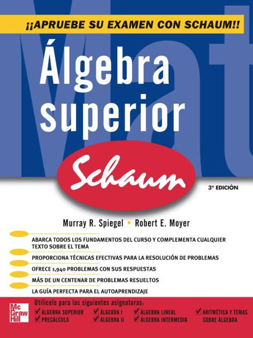 Algebra superior (Serie Schaum's)