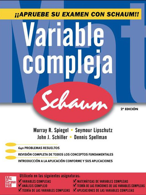 Variable compleja, Serie Schaum