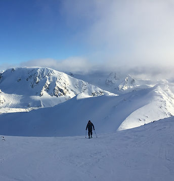 Coming home from an epic day in the Spearhead Range