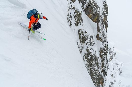 Skiing the Apocalypse Couloir, Grand Teton National Park