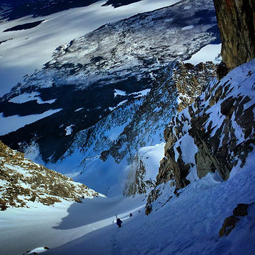 Everybody should ski this run, at least once. The Skillet Glacier, Mt Moran