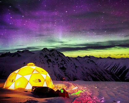 Northern Lights over Camp Sessel. Photo: Ian McIntosh